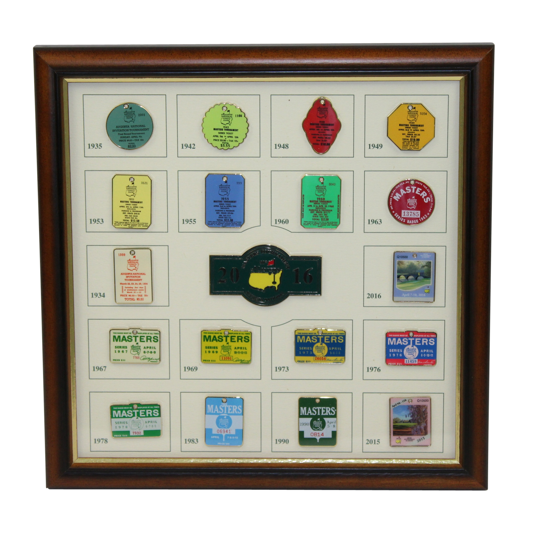 Lot Detail - Limited Edition Masters 2016 Commemorative Pin Set