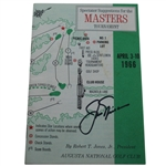 Jack Nicklaus Signed 1966 Masters Spectators Guide - Jacks Third Masters Win JSA ALOA