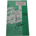Jack Nicklaus Signed 1975 Masters Spectator Guide - Jacks Fifth Masters Win JSA ALOA