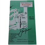 Jack Nicklaus Signed 1986 Masters Spectator Guide - Jacks Final Major Win JSA ALOA