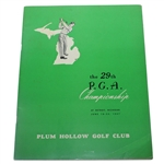 1947 PGA Championship at Plum Hollow Golf Club Program - Jim Ferrier Winner