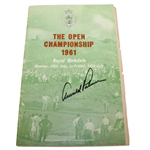 Arnold Palmer Signed 1961 Open Championship at Royal Birkdale Program with Friday Draw JSA ALOA