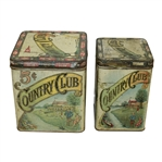 Two Vintage Country Club Handmade Cigar Tins