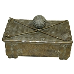 Jennings Brothers Box with Golf Ball and Crossed Clubs on Lid