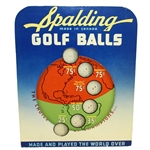 Spalding Golf Balls Made in Canada 3-D Advertising Sign
