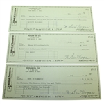 Three Ben Hogan Signed Hogan Oil Co. Checks JSA ALOA
