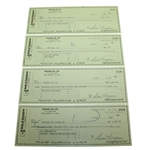 Four Ben Hogan Signed Hogan Oil Co. Checks JSA ALOA
