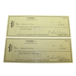 Two Ben Hogan Signed BankOne Checks - Pay to the Order of Seminole GC JSA ALOA