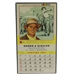 Sam Snead Great Moments in Sports January 1957 Calendar Page - Large
