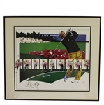 Ltd Ed Jack Nicklaus Golf Sequence Art Work - #138/1000 Signed by Artist - Framed