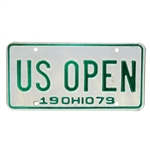 1979 US Open Championship (at Inverness) Ohio License Plate