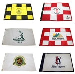 Lot of Six Golf Flags