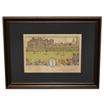 "Bobby Jones Signed (""10"") 1930 Currier & Ives St. Andrews to HOFer Charles Blair MacDonald -  FULL JSA #Z51466"