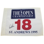 Arnold Palmer Signed 1995 Open Championship at St. Andrews Flag JSA ALOA