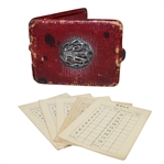 Vintage Leather Scorecard Holder with 5 Blank Scorecards