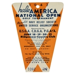 1942 Hale America National Open Golf Tournament Wednesday Ticket #2801 - Seldom Seen
