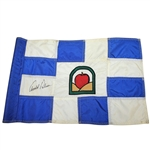Arnold Palmer Signed Blue & White Course Used Flag from Treesdale CC JSA ALOA