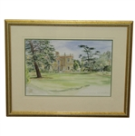 Chistlehurst GC Original Watercolor by Mary Fanier - Circa 1998 - Framed