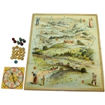 Circa 1905 McLoughlin Bros Game with Spinner and Pieces