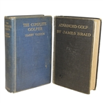 Advanced Golf by James Braid & The Complete Golfer by Harry Vardon Golf Books - Roth Collection
