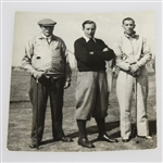 Circa 1940s Original Photo of James Braid, Henry Cotton, & Alfred Padgham