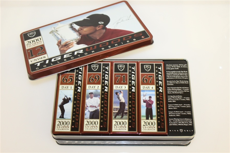 Tiger Slam Commemorative Golf Ball Tins from Each Leg - Complete Set