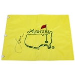 Jordan Spieth Signed Undated Masters Embroidered Flag JSA ALOA