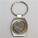 Bobby Jones Commemorative Buffalo Nickel Keychain - In life, as in golf, we play the ball as it lies