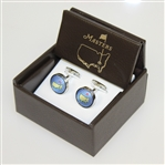 Masters Undated Carolina Lt. Blue Silk Cuff Links in Original Box