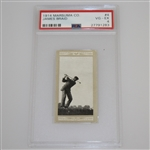 1914 James Braid Marsuma Co. Cigarette Golf Card #4 - PSA#27791283