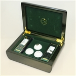 Masters Emerald Commemorative Wood Box with Golf Balls - 2015 - Spieth Masters Win