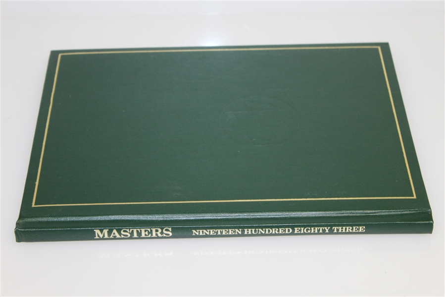 1983 Masters Tournament Annual Book - Seve Ballesteros Winner
