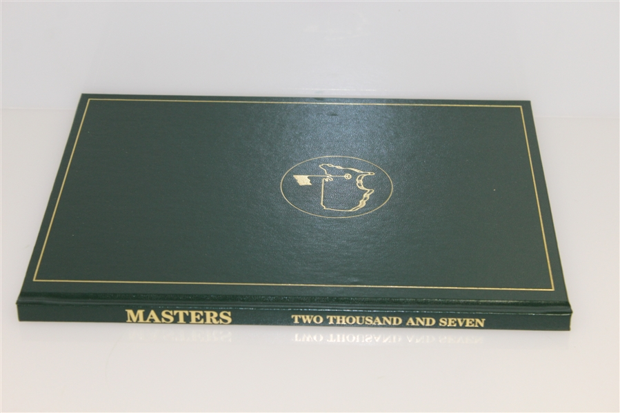2007 Masters Tournament Annual Book - Zach Johnson Winner with Original Box