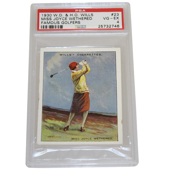 1930 Miss Joyce Wethered W.D. & H.O. Wills Famous Golfers Card #23 PSA #25732746