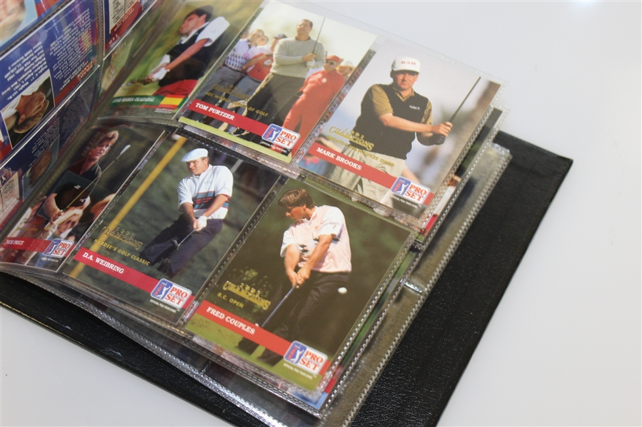 Ameritech Senior Open 1991 Champions Pro-Set Cards in Binder