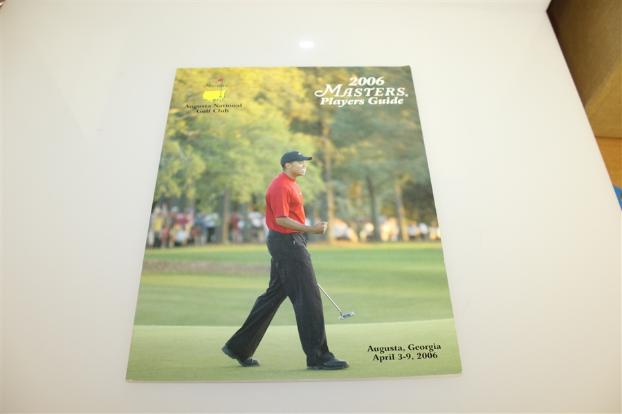 Five Masters Players Guides - 1995, 1996, 2001, 2002, & 2006