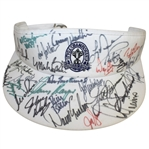 Multi Signed 1997 PGA Championship at Winged Foot Visor - Woods, Snead, Stewart, Player, & More JSA ALOA