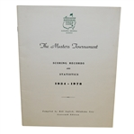 The Masters Tournament Scoring Records and Statistics 1934-1978 - Media Only