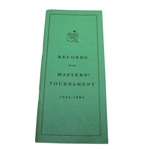 1990 Records of the Masters Tournament Booklet
