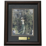 Charles Coody Signed Masters Shot Display with Notation - Framed JSA ALOA