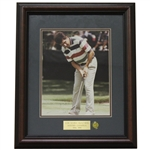 José María Olazábal Signed Masters Shot Display with Notation - Framed JSA ALOA