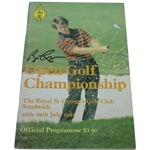 Bill Rogers Signed 1981 Open Championship at Royal St. Georges Program JSA ALOA