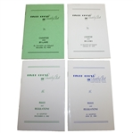 Ben Hogans Four Personal River Crest Country Club By-Laws and Rules Booklets - 1954, 59, 60, 64