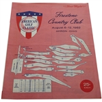 1962 American Golf Classic at Firestone CC Pairing Sheet - Arnold Palmer Win