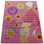 Catherine Lacoste Signed 1969 US Womens Amateur Championship at Las Colinas JSA ALOA