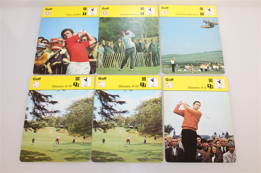 Twenty-One Assorted Golf 'Broadcasters' Cards
