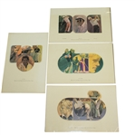 1971 Ryder Cup Spitzmiller Prints of Palmer, Nicklaus, Barber, & Trevino - Al Kelley Collection