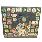 Fifty Assorted Golf Patches - Matted