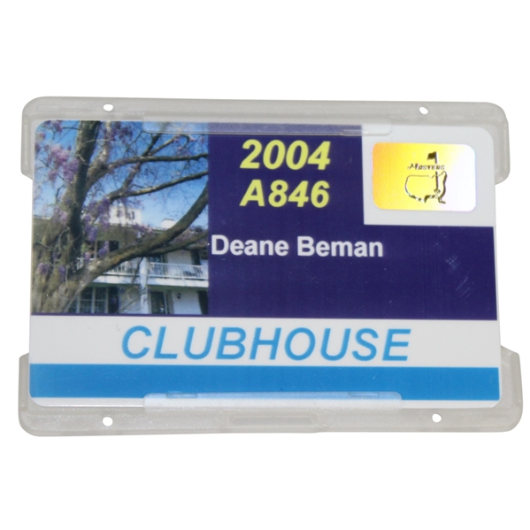 Deane Beman's 2004 Masters Tournament Clubhouse Badge #A846 - Phil Mickelson Winner
