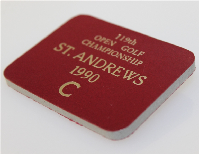1990 Open Championship at St. Andrews C Badge - Deane Beman Collection